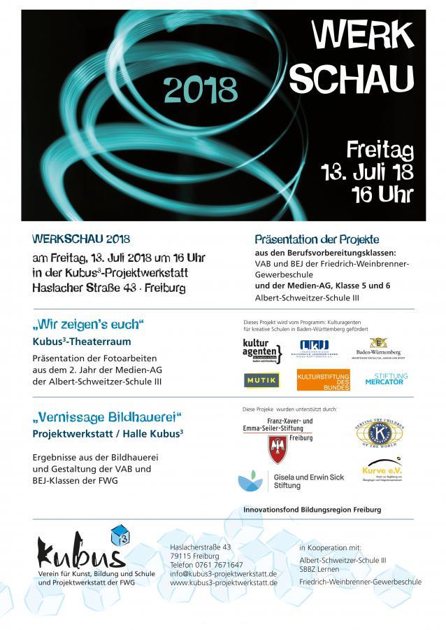 Werkschau 2018 Kubus³ Projektwerkstatt